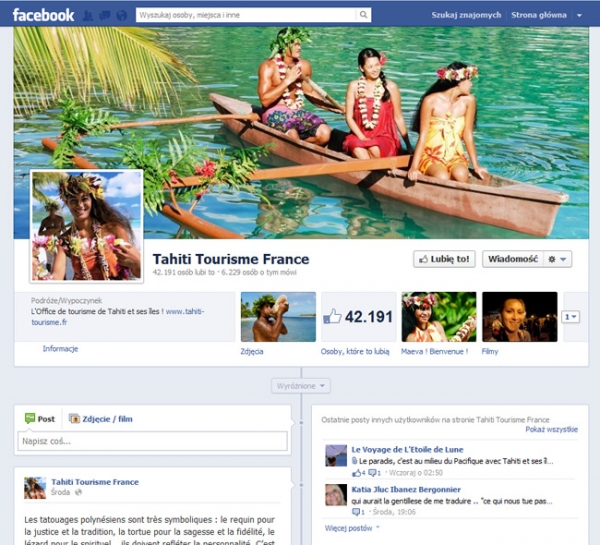Dedicated app for the Tahiti Tourism Board (French Polynesia)
